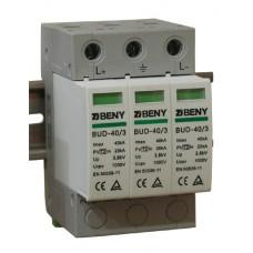 Ограничитель перенапряжения (грозоразрядник, УЗИП, класс II) DC SPD BUD-40/3 3P/1000v/40kA