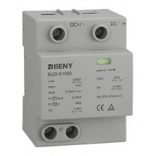 Ограничитель перенапряжения (грозоразрядник, УЗИП, класс I+II) DC SPD BUD-S1000 3P/1000v/30kA
