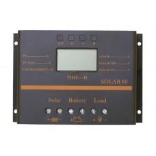 Intelligent PWM контроллер заряда АКБ SOLAR80 12/24В 80А USB
