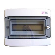 Щит распределительный ETI ECH-12PT (12 модулей, наружного исполнения, IP65, пластик)